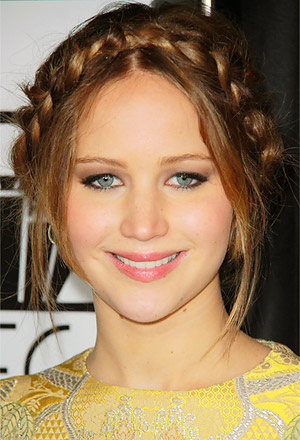 Jennifer Lawrence's braided updo